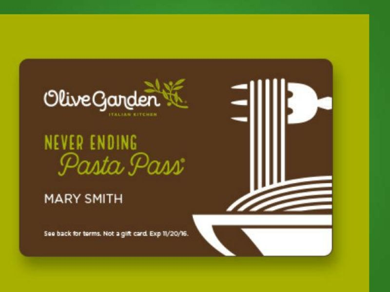 Olive garden 39 s coveted 39 never ending pasta pass 39 goes on sale thursday dixon ca patch Olive garden citrus heights ca