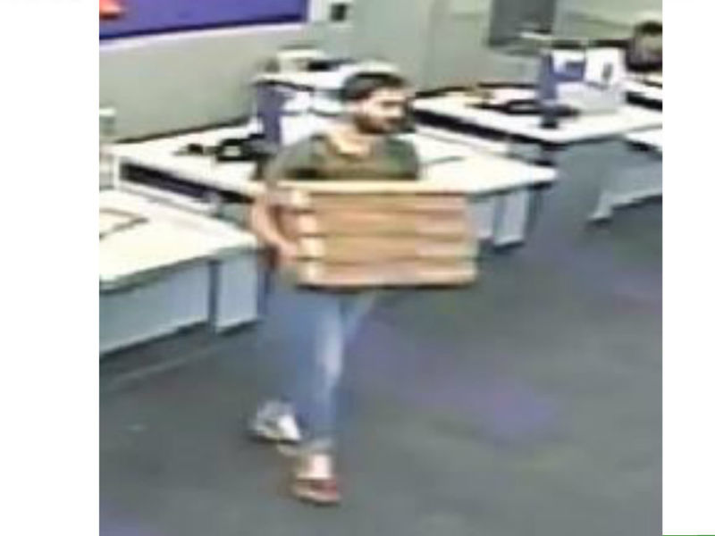suspect uses fake id to score laptops from fedex deputies does he look familiar