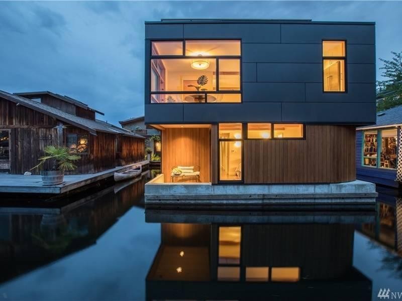 washington wow houses luxe houseboat sleek new fixer upper