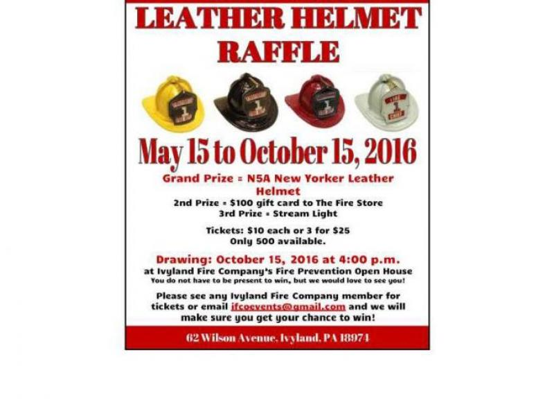 fundraiser leather helmet raffle at ivyland fire company
