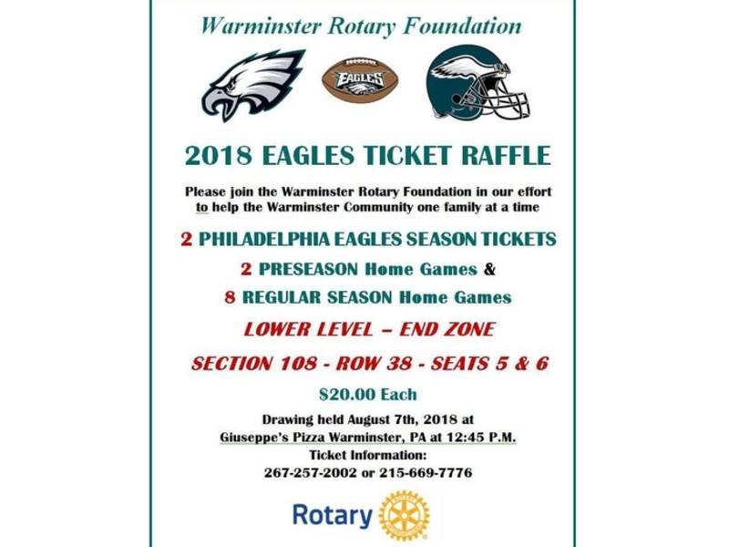 fundraiser warminster rotary s annual eagles tickets raffle