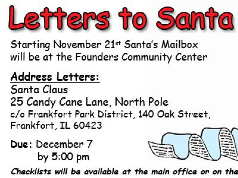 letters to santa the frankfort park district