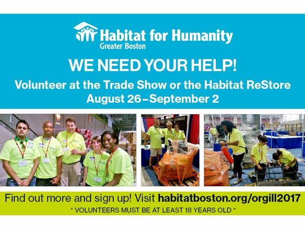 Habitat boston needs over 200 volunteers can you help for Craft fair boston 2017