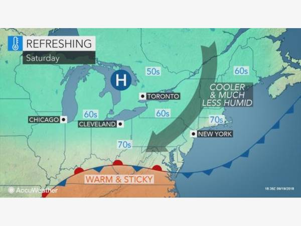 CT Weather: Refreshing Weather Arrives, Storm Chance Late Friday