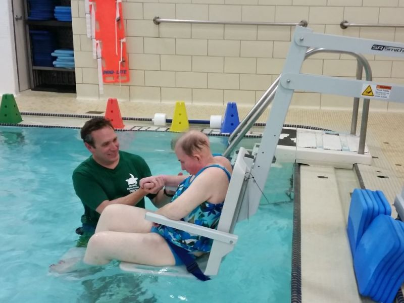 new chair lift makes ymca pool accessible to all northbrook il patch