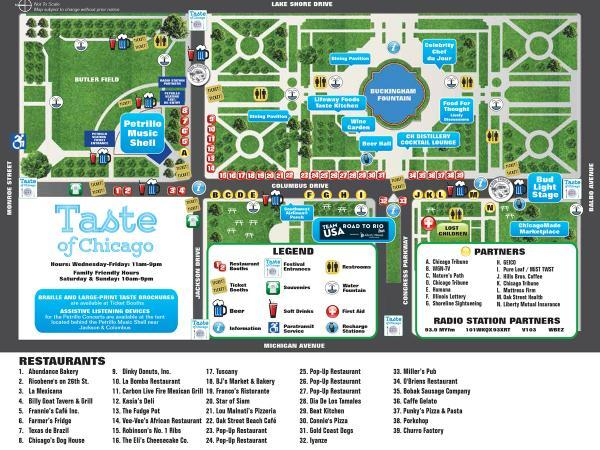 taste of chicago 2016 your plete guide chicago il patch