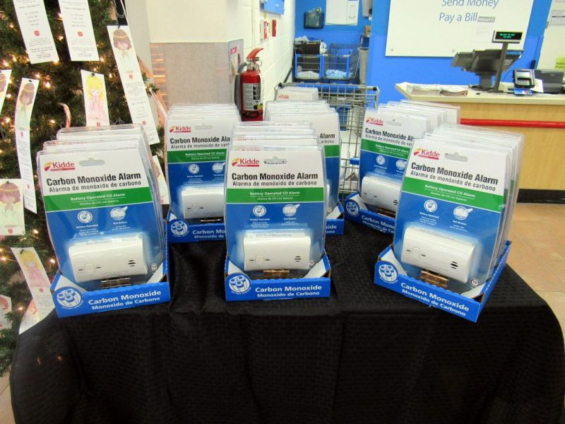 Walmart grant to fire bureau buys carbon monoxide detectors for