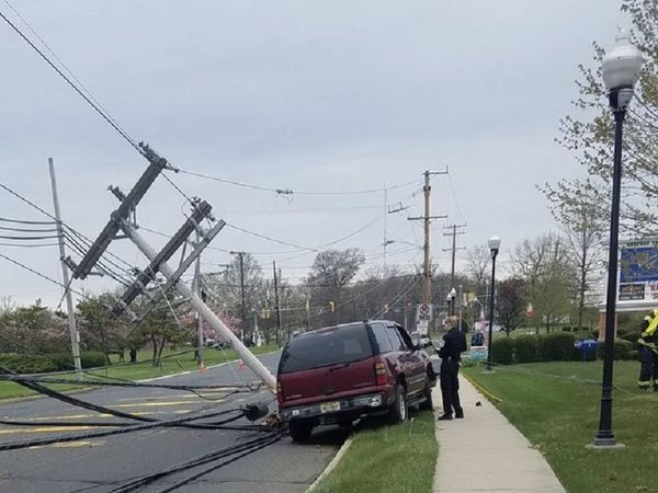 Route 66 closed driver trapped by live wires after crash for 66 nail salon neptune nj
