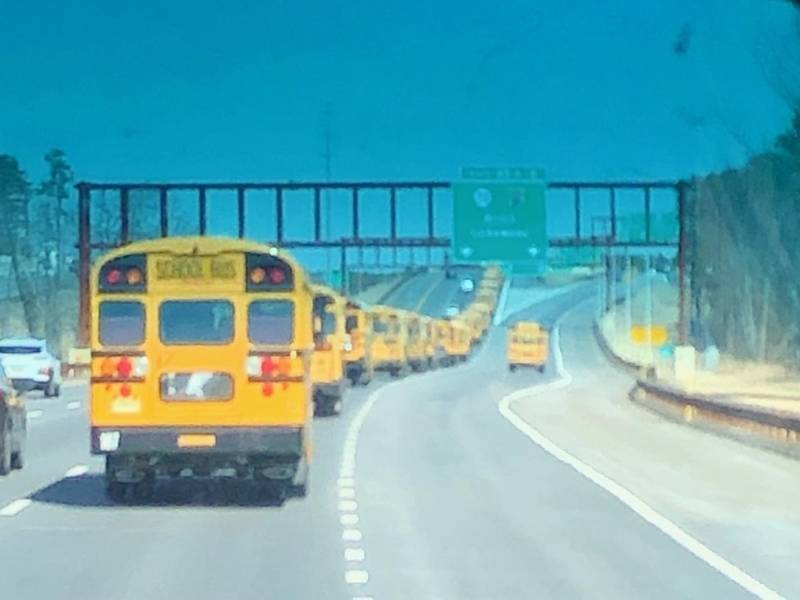 Toms River Sends 27 Buses To Support Our Students Rally Toms River