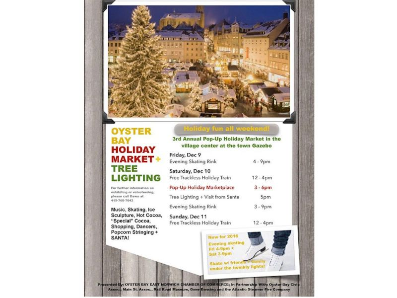 oyster bay holiday market tree lighting is nearly here oyster bay