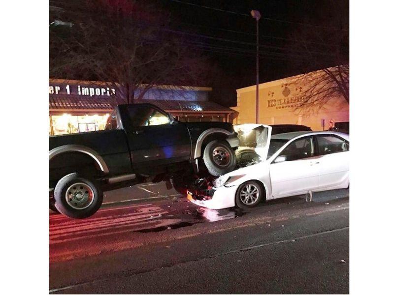 Car Vs Pickup Truck In Huntington Station Crash