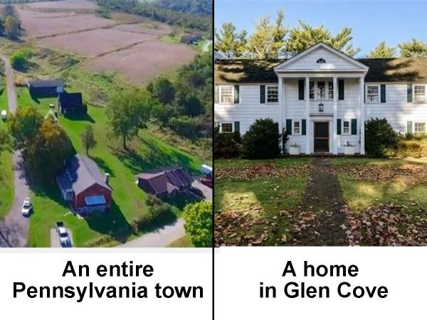glen cove homes priced the same as entire pennsylvania