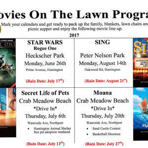 Town of Huntingtons Movies on the Lawn Series