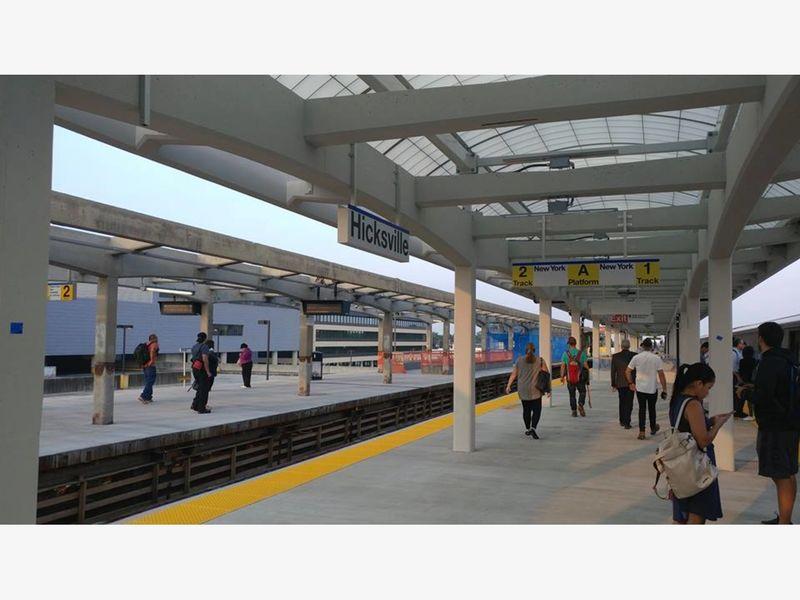 hicksville lirr station reopens north platform moves to next