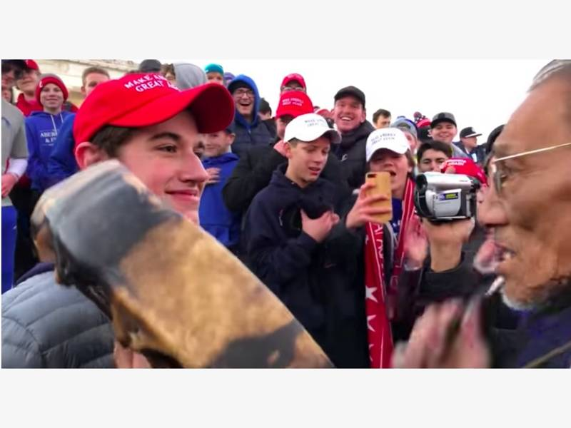 Student In MAGA Hat Seen Taunting Native American Man In D.C. ... 75f6d7e1432a