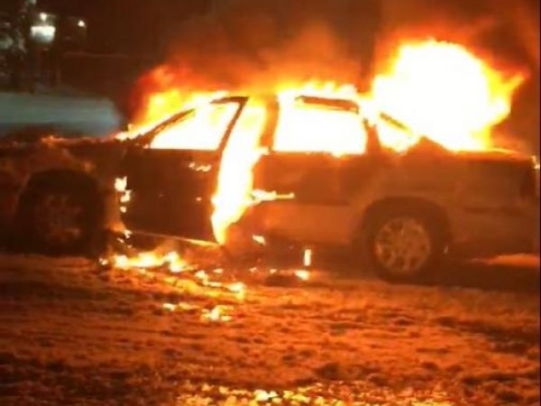 Firefighters battle car fire at islip 7 eleven during for 7 eleven islip terrace