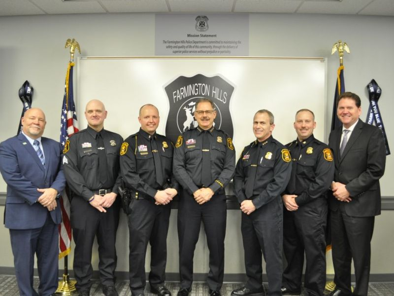 Farmington hills pd announces new promotions farmington - Garden city michigan police department ...