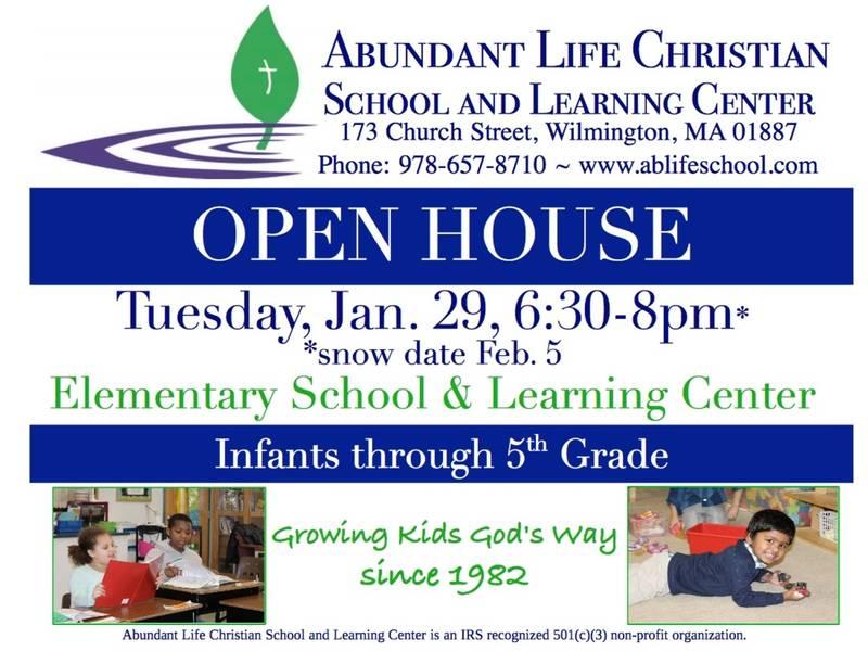 Open House At Abundant Life Christian School Learning Center