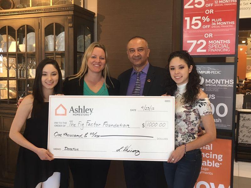 Ashley HomeStore In Burbank Donates $500 To Nonprofit Fig Factor Foundation