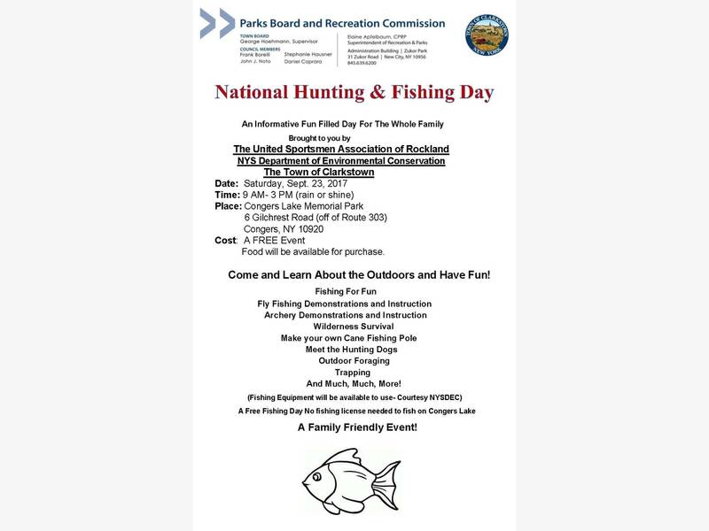 national hunting and fishing day | new city, ny patch