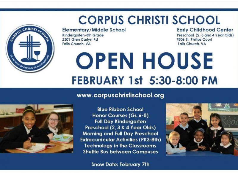 corpus christi preschool falls church corpus christi school open house february 1st falls 543