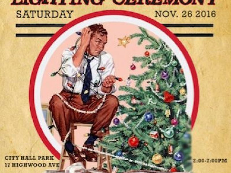 highwood 3rd annual holiday lighting features sleigh rides santa smores and 12 - 12 Drinks Of Christmas