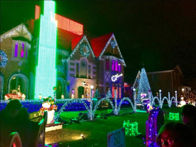 spectacular christmas lights display honors teen hero