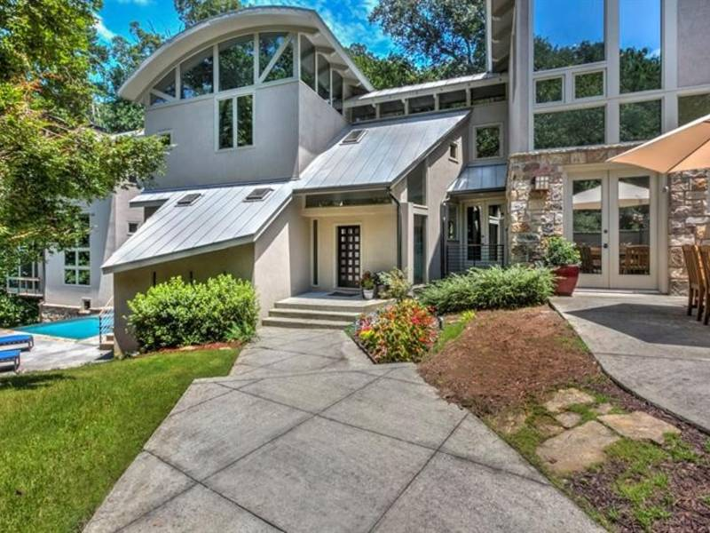 wow house contemporary home offers serenity in the city atlanta