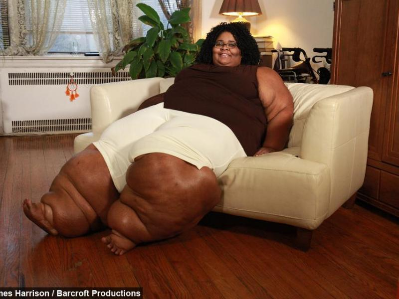 Fat Woman On Couch