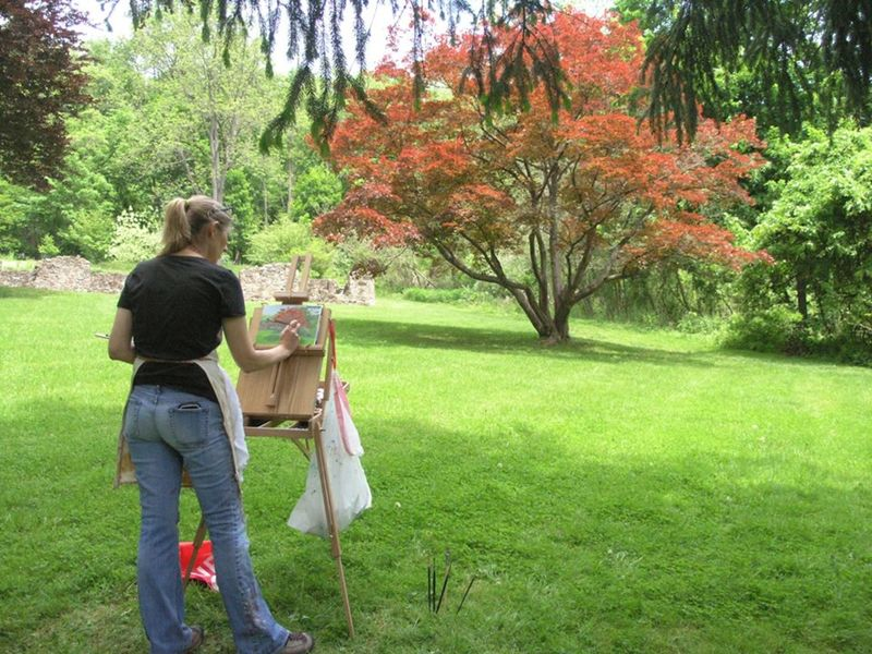 Landscape Painting In Oil And Acrylics Chester Springs County