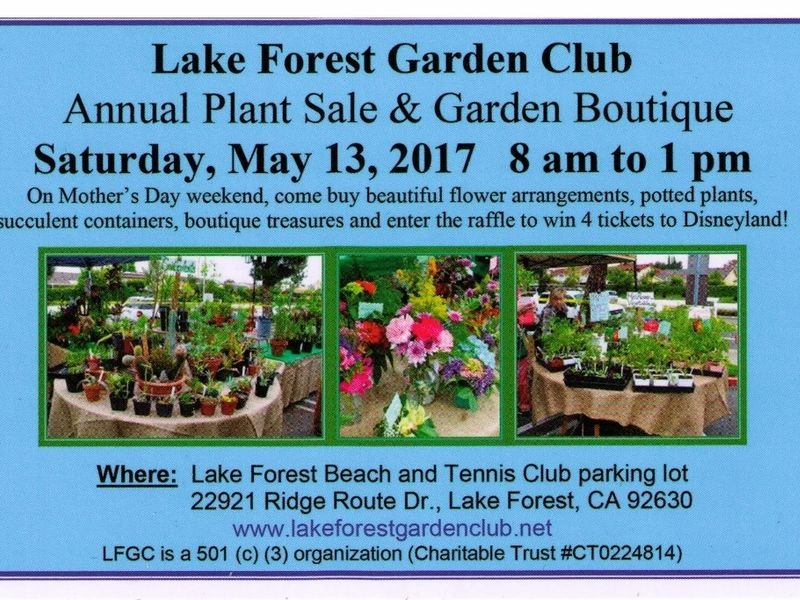 Lake Forest Garden Club\'s World Famous Plant Sale and Garden ...