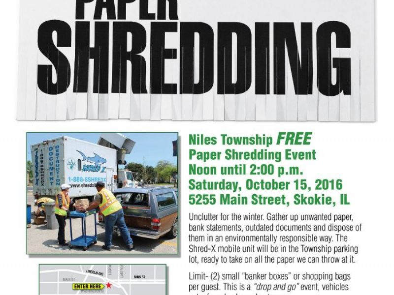 free paper shredding event at niles township october 15th   skokie