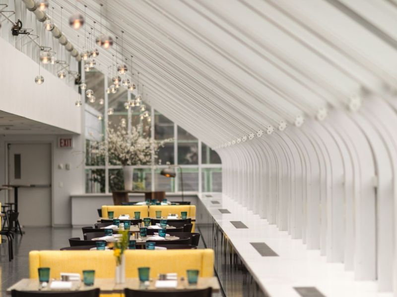 yellow magnolia cafe opens at brooklyn botanic garden