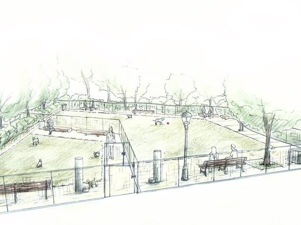 See plans for kensington dog run at wednesday community for 70 park terrace east new york ny