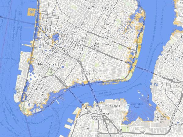 NYC Sea Level Map State Adopts Official ClimateChange – Map of New York City New York