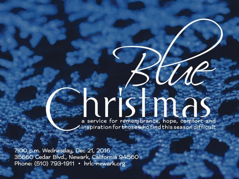 a blue christmas longest night worship with those need hope comfort and inspiration - Blue Christmas Service