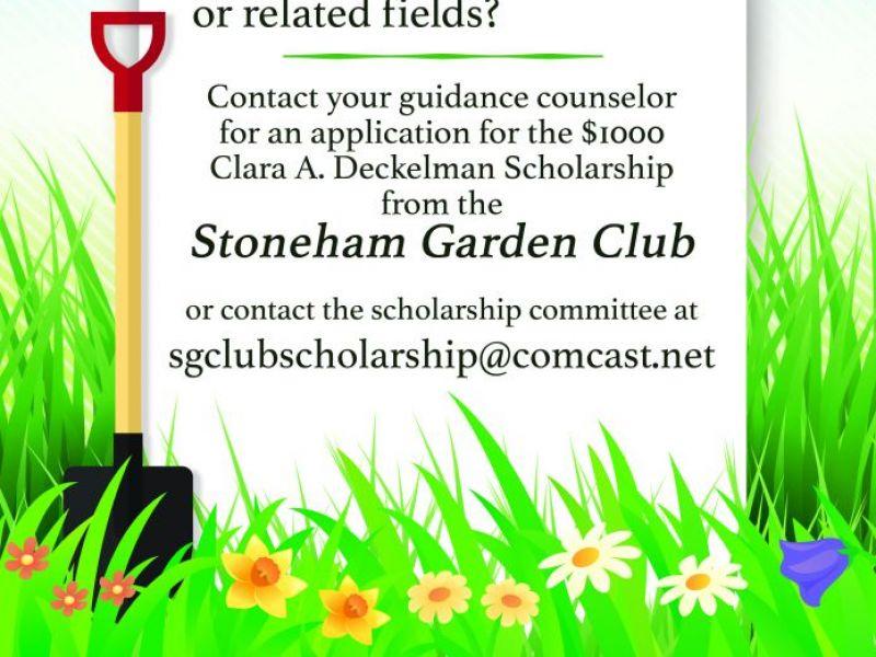 . Stoneham Garden Club Scholarship   Stoneham  MA Patch