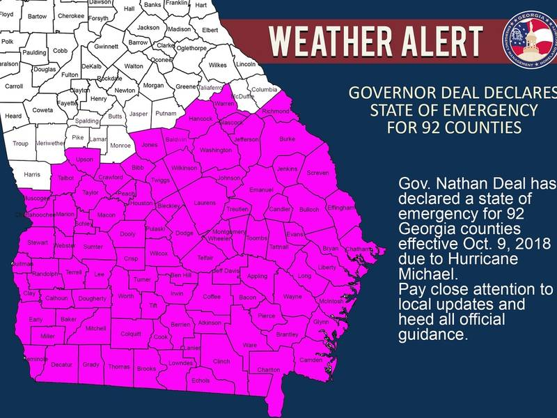 State Of Emergency Declared In 92 Counties Ahead Of Michael