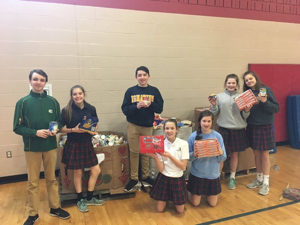 catholic schools compete to stamp out hunger avon oh patch