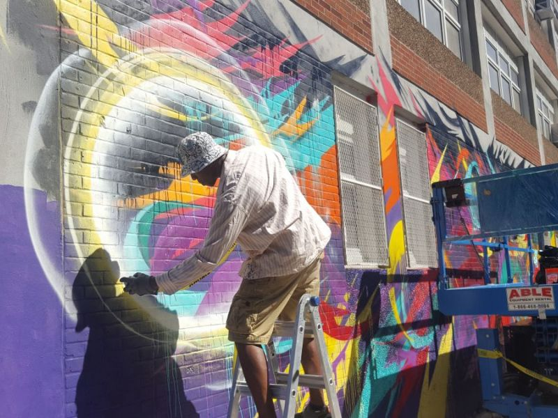 Murals raising awareness for education equality pop up for Education mural