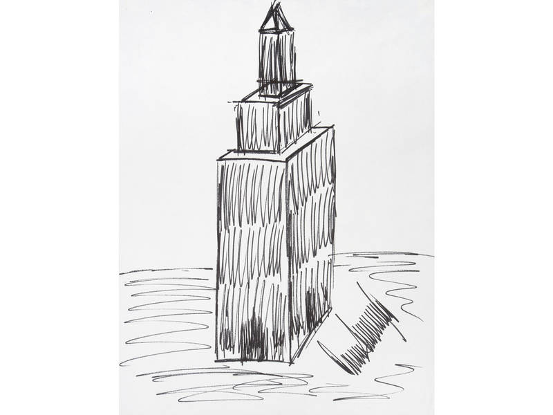 Empire State Building Drawing By Donald Trump Sells At Auction