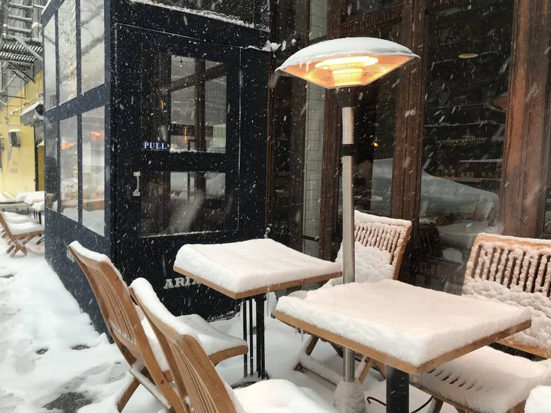 Blizzard Dining Offered By Nyc Restaurant With Outdoor Seating