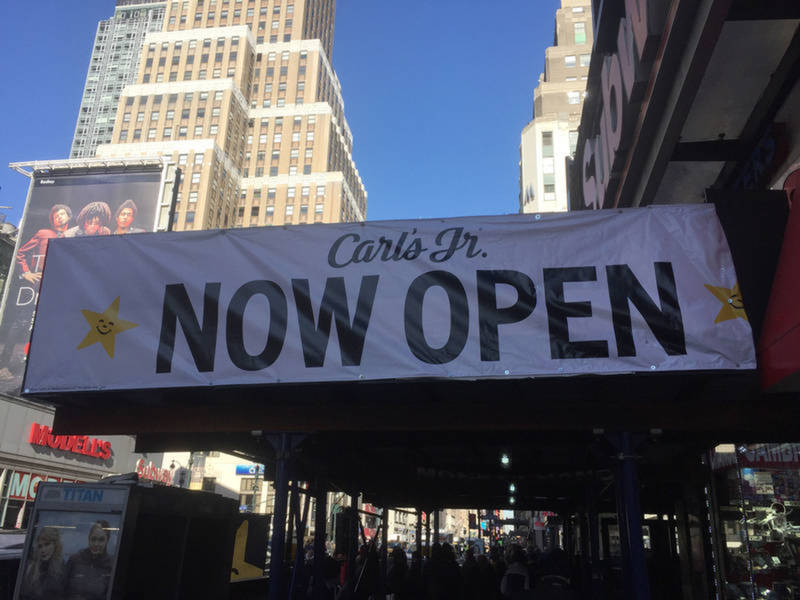 midtown carl s jr closes months after opening midtown manhattan