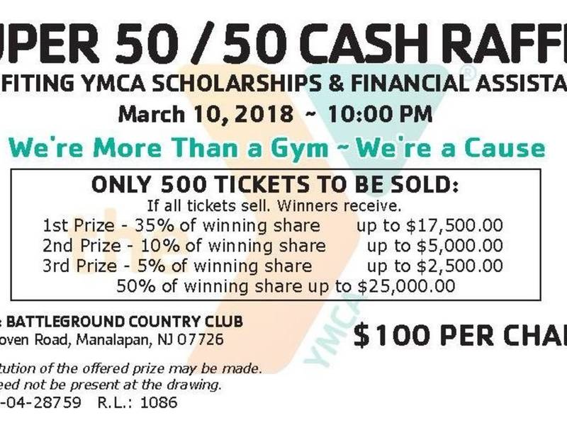 ymca super 50 50 raffle freehold nj patch