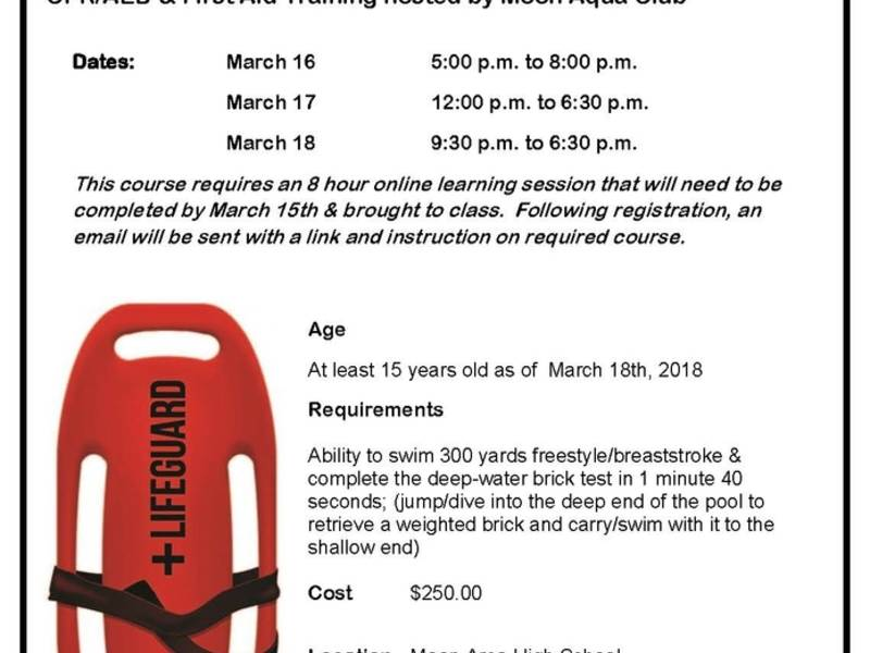 American Red Cross Lifeguarding Certification Course Robinson Pa