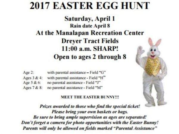 Lee County Parks & Recreation Easter egg hunts