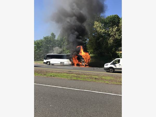 Bus Fire Closes Garden State Parkway South In Holmdel