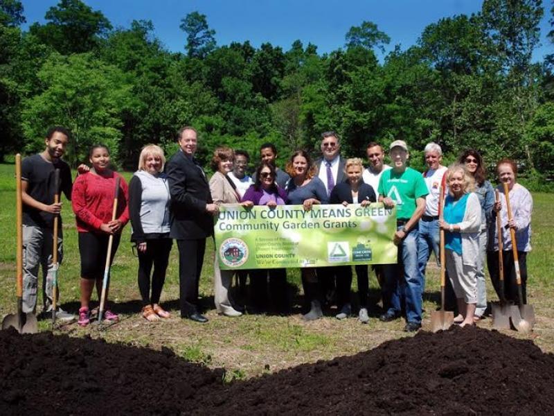 Officials break ground at scotch plains fanwood community garden scotch plains nj patch for Olive garden union nj
