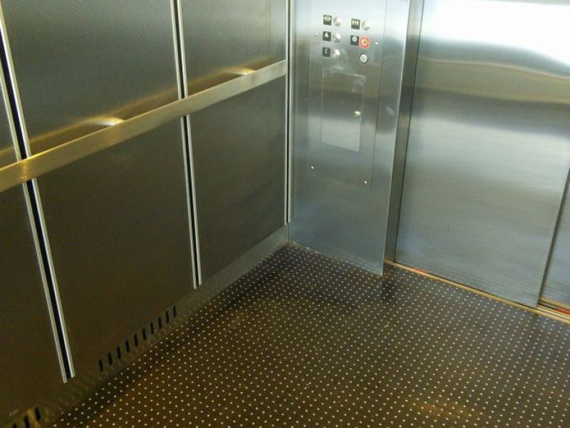ground basement elevator lift to garage deck from parking sale car level double
