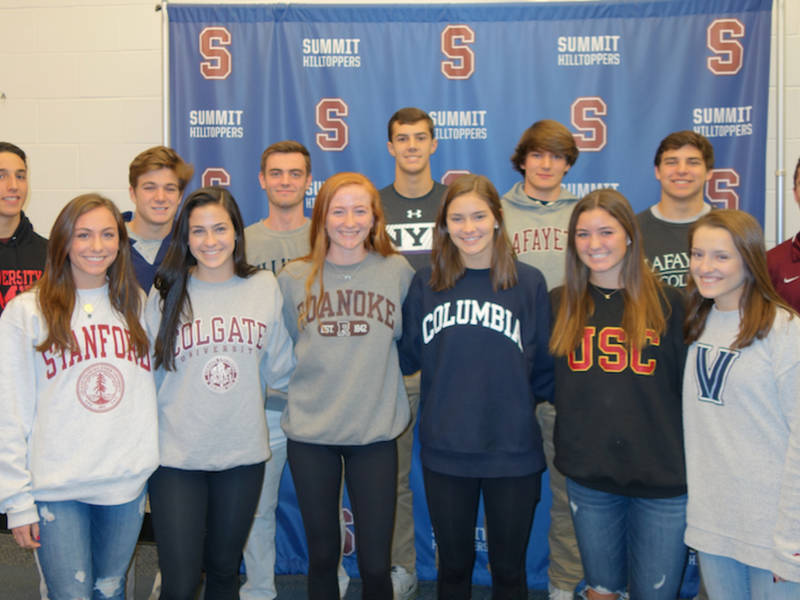 ... 14 Summit High School Athletes Commit To Colleges-0 ...